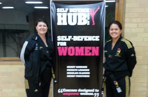 Master Ruanna Segal and Andre at a self defence hub grading